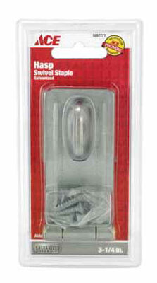 Ace Galvanized Steel Swivel Staple Safety Hasp 3-1/4 in. L