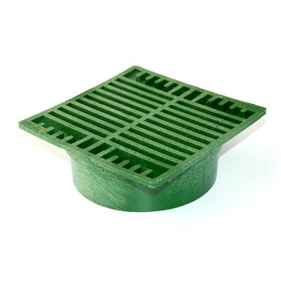 NDS 7 in  Green Polyolefin Square Drain Grate