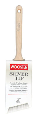 Wooster Silver Tip 3 in. W Angle Polyester Paint Brush