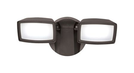 All-Pro Dusk to Dawn LED Bronze Outdoor Flood Light 1 pk