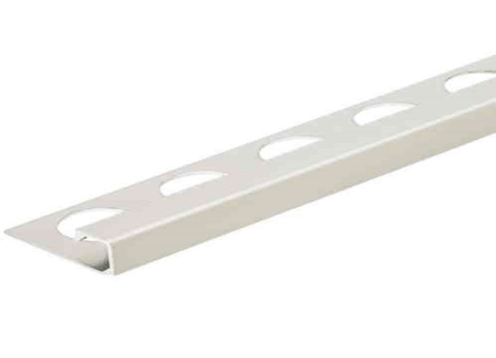 Satin Silver 3/8 in. Aluminum Q-Shape Tile Edging Trim