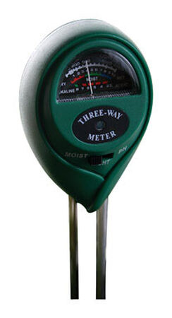 Hydrofarm 3-Way Ph and Moisture Meter