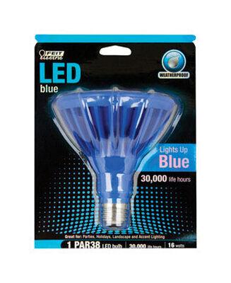 FEIT Electric LED Bulb 7 watts Weatherproof PAR38 Medium Base (E26) Blue 1