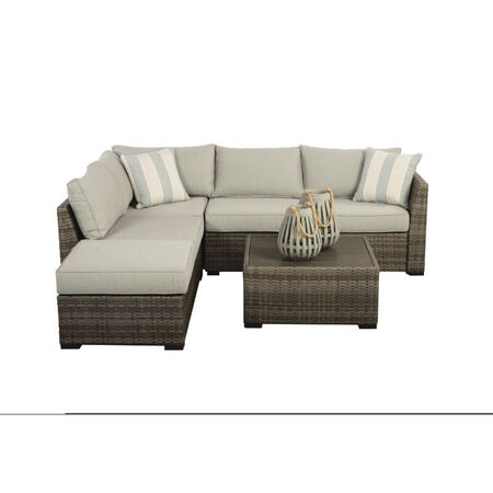 Living Accents Brickvale 4 person Gray Aluminum Conversation Seating Set Gray