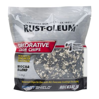 Rust-Oleum Decorative Color Chips Satin Mocha Blend 1 lb.