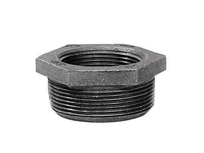 B & K 1 in. Dia. x 1/4 in. Dia. MPT To FPT Galvanized Malleable Iron Hex Bushing