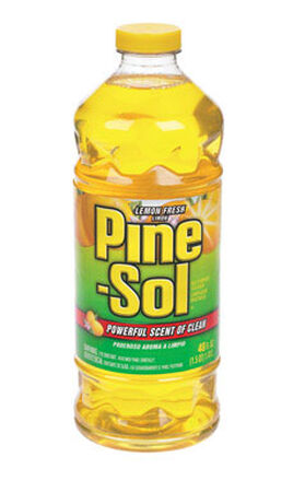 Pine Sol Lemon Fresh Scent All Purpose Cleaner 48 oz. Liquid For Multi-Surface