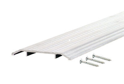 M-D Building Products Fluted Top Threshold 6 in. W x 36 in. L Silver