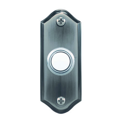 Heath Zenith Pewter Wired Pushbutton Doorbell