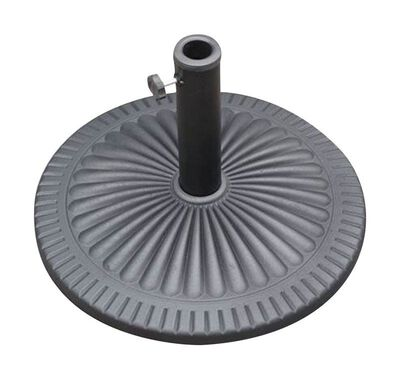 Bond Manufacturing Resin Stone Umbrella Base 13.58 in. H x 21.5 in. W Black