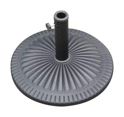 Bond Manufacturing Resin Stone Umbrella Base 13.58 in. H x 21.5 in. W Black