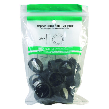 SharkBite 3/4 in. Dia. PEX Crimp Ring 25 pk