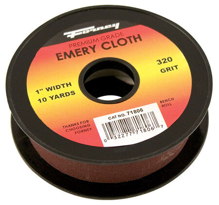 Forney 360 in. L x 1 in. W 320 Grit Emery Sandpaper 1 pk