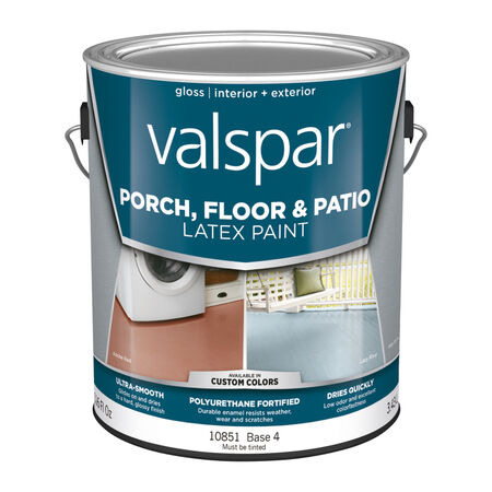 Valspar Gloss Clear Base 4 Latex Porch & Patio Floor Paint 1 gal.