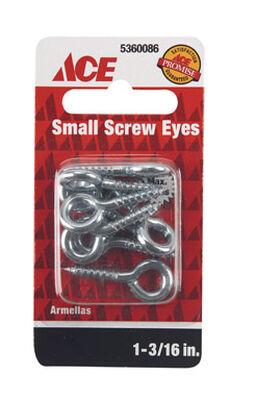 Ace 1/8 1-3/16 in. L Zinc-Plated Steel Screw Eye 8 pk