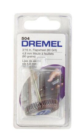 Dremel 3/16 in. Dia. x 1/8 in. Aluminum Oxide Flapwheel Sander 80 Grit