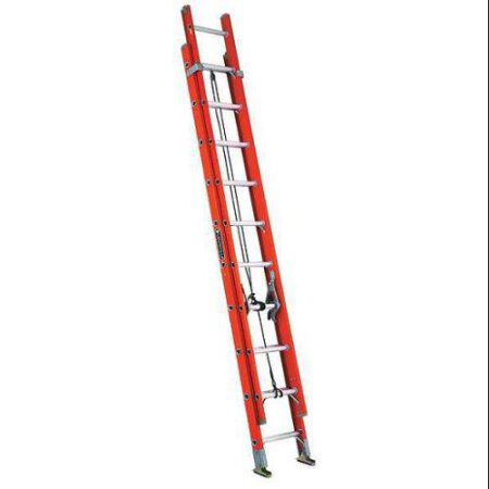 20 ft Louisville FE3220 Fiberglass Extension Ladder, Type IA, 300 lb Load Capacity
