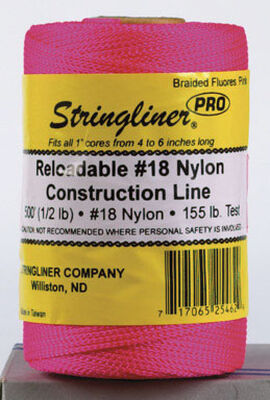 Stringliner Braided Pink Chalk Line Refill 500 ft. L