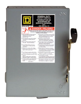 Square D Fusible/Double Pole 30 amps Fuse Safety Switch