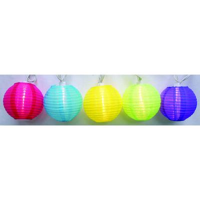 Living Accents Round Color Lanterns Light Set Clear 7.5 ft. L