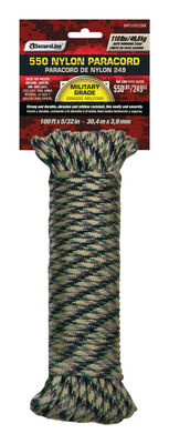 SecureLine 5/32 in. Dia. x 50 ft. L Braided Nylon Paracord Camouflage