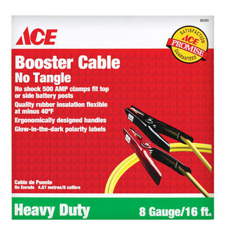 Ace Booster Cable 275 amps 8 Ga. 16 ft. L