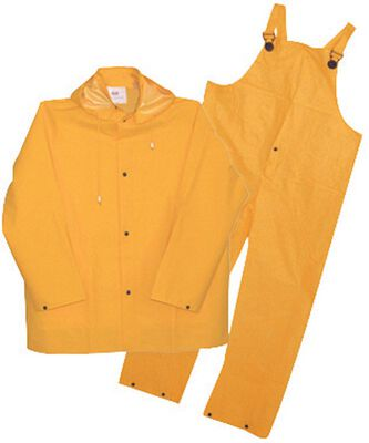 Boss Yellow PVC-Coated Polyester Three Piece Rain Suit XX-Large