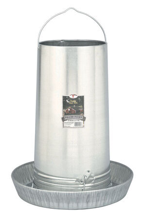 Little Giant 40 lb. Galvanized Steel Feeder Pan