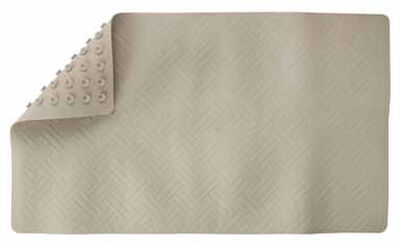 Living Accents 28 in. L x 16 in. W Tan Thermo Plastic Elastomer Bath Mat Latex Free