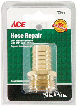 Ace 3/4 in. Hose Barb x 3/4 in. MHT Brass Hose Repair Male Threaded