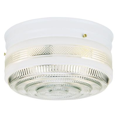 Westinghouse White Ceiling Fixture 5-1/4 in. H x 10-3/4 in. W