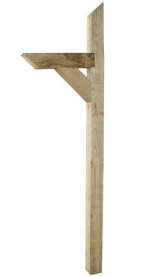 Alexandria Moulding 72 in. H x 4 in. D x 4 in. W Natural Pine Mailbox Post