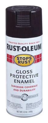 Rust-Oleum Stops Rust Dark Walnut Gloss Protective Enamel Spray 12 oz.