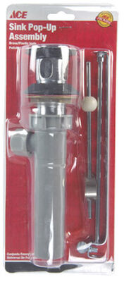 Ace 1-1/4 in. Dia. Pop Up Assembly Plastic Chrome