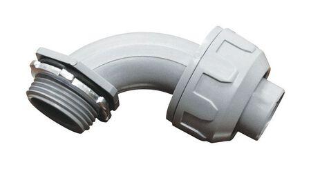 Sigma Electric 1/2 in. Dia. Plastic 90 Degree Connector Liquid Tight 1 pk