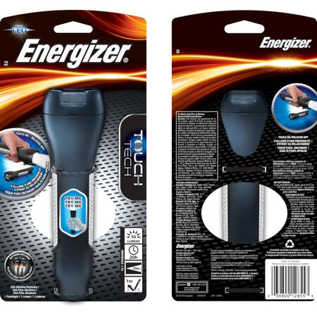 Energizer TOUCH TECH 50 lumens Flashlight LED AA Black