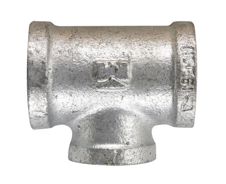 B & K 3/4 in. Dia. x 3/4 in. Dia. x 1/2 in. Dia. FPT To FPT To FPT Galvanized Malleable Iron Red