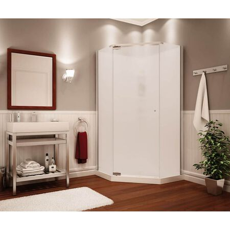 Maax Begonia Pebble 105544 Shower Stall Kit, 36 in L X 36 in W X 72 in H, Polystyrene, White