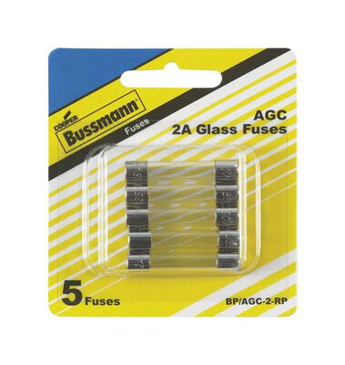 Bussmann 2 amps AGC Automotive Fuse 5 pk