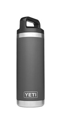 YETI Rambler Charcoal Stainless Steel Insulated Bottle BPA Free 18 oz.