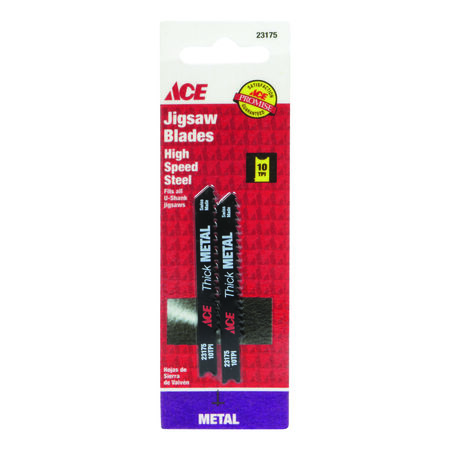 Ace High Speed Steel Universal 2-3/4 in. L Jig Saw Blade 10 TPI 2 pk