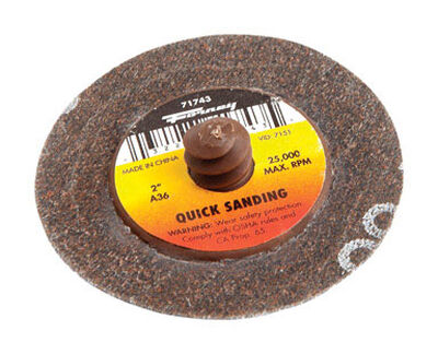 Forney Quick Change 2 in. Dia. Sanding Disc 36 Grit 1 pk