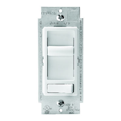 Leviton SureSlide 600 watts Three-Way Dimmer Switch White