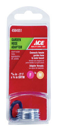 ACE Garden Hose Aerator Adapter 55/64 in.- 27F x 3/4 in. GHTM