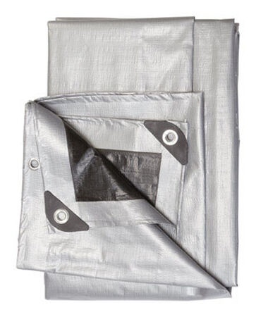 Ace Silver/Black Heavy Duty Tarp 16 ft. W x 20 ft. L