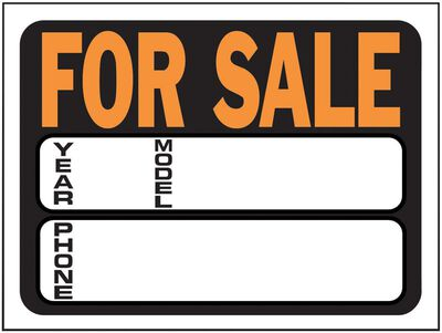 Hy-Ko English 9 in. H x 12 in. W Plastic Sign Auto for Sale