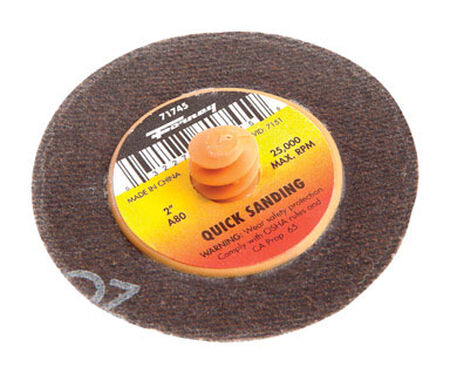 Forney Quick Change 2 in. Dia. Sanding Disc 80 Grit 1 pk