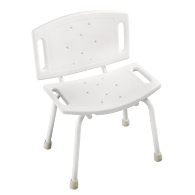Delta White Plastic Tub and Shower Chair 11 in. L x 28-3/4 in. H
