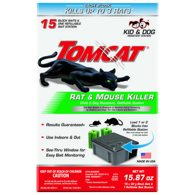 Tomcat Refillable Bait Station For Rats & Mice