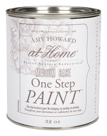 Amy Howard at Home Interior Latex One Step Furniture Paint Flat Chalk Finish 32 oz. Medium Base